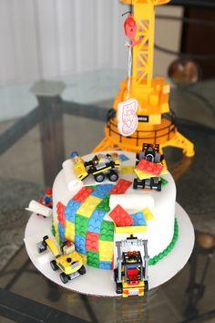 Lego Construction Cake - MamaMommyMom