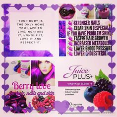 Would you like.... More energy Boost your immune system Glowing radiant skin Stronger nails Healthier, luscious hair Try the Vineyard Blend', & flood your body with the raw nutrients of 9 different berry superfoods, everyday! including blueberries, raspberries, blackberries, bilberries, and elderberries − that provide some of the most powerful and healthful antioxidants PM me or Email me at juicyfiitmummaliving@outlook.com if your ready for the change......