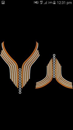 Collar Pattern, Neck Pattern, Bridal Silk Saree, Silk Sarees, Machine Embroidery Designs, Embroidery Patterns, Butterfly Template, Couture Sewing, Embroidery Fashion
