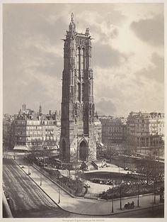 Charles Soulier, (French, 1840–1875). La Tour St. Jacques La Boucherie à Paris…