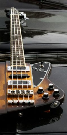 Acoustic And Electric Guitars. Learn to play the acoustic electric guitar using these straightforward tips. Playing a guitar is easy to learn, and can open up numerous musical opportunities. Vintage Bass Guitars, Custom Bass Guitar, Custom Guitars, Guitar Amp, Cool Guitar, Acoustic Guitar, I Love Bass, Guitar Exercises, Double Bass