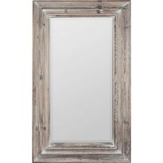Cooper Classics Turner Whitewash Beveled Wall Mirror ($278) ❤ liked on Polyvore featuring home, home decor, mirrors, rectangle beveled mirror, beveled mirror, rectangular mirrors, wooden home decor and wall mirrors
