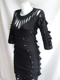 Vampire Dress  3/4 Sleeve  gothic industrial steam by RolandMode, $42.00