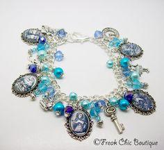 Alice In Wonderland Charm Bracelet Alice In by freakchicboutique