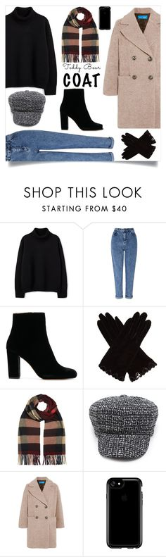 """""""Teddy Bear"""" by nikitaeg ❤ liked on Polyvore featuring Miss Selfridge, AGNELLE, Burberry, M.i.h Jeans and Speck"""