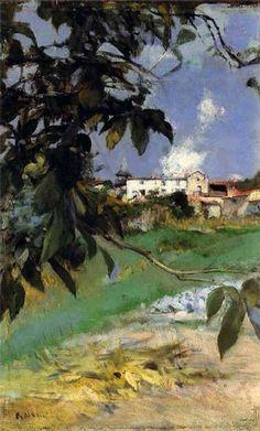 Paesaggio con cascinale Giovanni Boldini