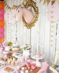 Magical Unicorn Birthday Party... We loved decorated this Birthday for sweet Amanda... #unicornparty ...