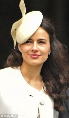 Lord Frederick's actress wife Sophie Winkleman (known as Lady Frederick Windsor since the two married in 2009). I've never seen her photo- she is beautiful!