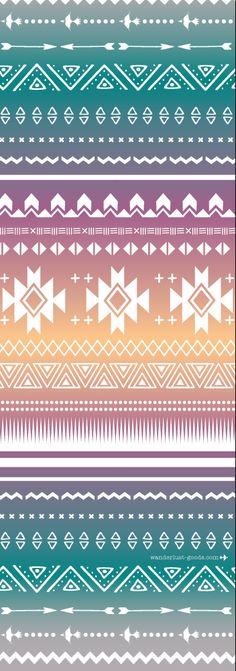 Navajo printed yoga mat by Vagabond goods. Custom designed cool yoga mats for the bohemian yogi. Cool yoga gift.