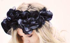 DIY Black Flowers Head Crown   Pretty Punk Princess