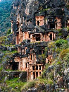 Myra.. Lycia region of Anatolia.. TURKEY.. breathtaking ruins including the Acropolis on the Demre-plateau, the Roman theatre & Roman baths..