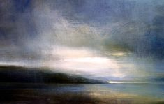 Zarina Stewart-Clark is a Scottish landscape artist whose paintings depict landscapes around the West Coast of Scotland and Suffolk. Her paintings are concerned with the changing light on land, sea and sky. Rain Clouds, Blue Clouds, Abstract Landscape, Landscape Paintings, Abstract Art, Landscapes, West Coast Scotland, Smoke Art, Sky Painting