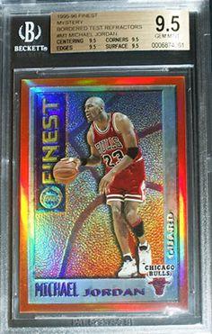 99def03d426 Michael Jordan Cards - 1995-96 Topps Finest Michael Jordan Mystery Bordered  Test Refractor BGS