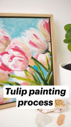 Tulip painting process
