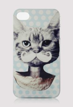 this is hilariously worrisome - Cat Face with Mustache Mobile Phone Case