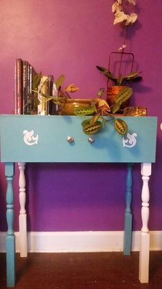 Refurbished drawer Entranceway table in ShyDogs' Garage Sale in Indianapolis , IN for $50.00. Beautiful refurbished dresser drawer into an entryway table. Truly one of a kind. Hand painted and decorated with a sense of style guaranteed to become an instant favorite piece in your home.