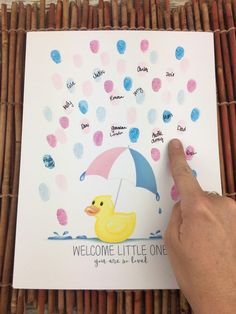 INSTANT DOWNLOAD Rubber Ducky gender reveal thumbprint | Etsy Ducky Baby Showers, Baby Shower Duck, Rubber Ducky Baby Shower, Baby Shower Signs, Rubber Ducky Party, Gender Party, Baby Gender Reveal Party, Marcos Para Baby Shower, Gender Reveal Announcement