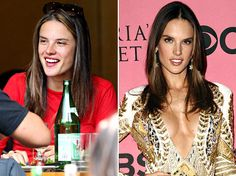 Alessandra Ambrosio! I think she looks just as beautiful, if not prettier without makeup! :) (Makes me think twice about using foundation!)