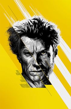 Amazing Vector. The like the two toned details of the face on a yellow and white background.