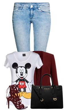 """""""Untitled #1103"""" by directioner-123-ii ❤ liked on Polyvore featuring moda, H&M, Theory, Disney y MICHAEL Michael Kors"""