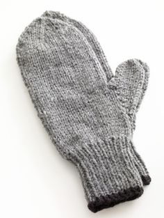 Free Knitting Pattern 80677AD Toasty Knitted Mittens : Lion Brand Yarn Company--this looks nice and basic.