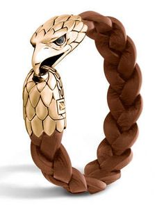 Men's Bronze Eagle Head Bracelet by John Hardy at Neiman Marcus.