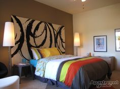 Headboard - DIY with rugs or canvass