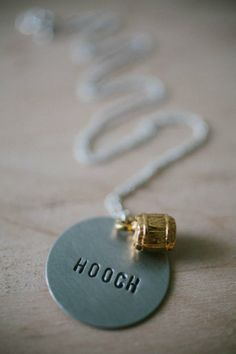 New: Hooch #Necklace. Is it boozy?  Is it floozy? If you don't tell, they'll never know. BourbonandBoots.com