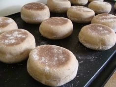 Easy Whole Wheat Sourdough English Muffins - An Oregon Cottage Sourdough Recipes, Sourdough Bread, Bread Recipes, Real Food Recipes, Cooking Recipes, Starter Recipes, Yummy Recipes, Healthy Recipes, Whole Wheat English Muffin