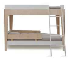 Maximize your space vertically with the #Oeuf Perch Bunk Bed.  #bunkbed #sharedroom