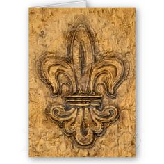 Textured Classic Fleur-de-Lis Design Greeting Cards from Zazzle.com
