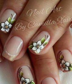 Flower Nail Designs, Colorful Nail Designs, Nail Designs Spring, Nail Art Designs, Nails & Co, Hair And Nails, Sassy Nails, Cute Nails, Cute Spring Nails