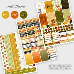 Free Printable Fall Planner Stickers {PDF, PNG and Silhouette files} from lifewithmayra