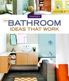 New bathroom ideas that work by Scott Gibson. Includes 350 ideas covering a range of bathroom styles and sizes and considering all aspects of design, including fixtures, lighting and cabinetry; finishes for floors, walls and ceilings; budget-conscious options for tubs, showers and sinks; ideas for heating and cooling, ventilation, storage and finishing touches; and ideas for accessibility and water conservation.
