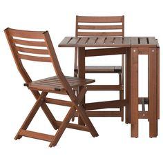 ÄPPLARÖ Table and 2 folding chairs, outdoor - IKEA