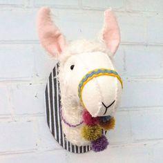 Llama Trophy Head – Bustle & Sew
