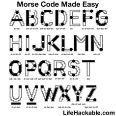 Morse Code Made Easy See More Daily Life Hacks Here