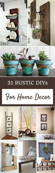 31 Rustic DIY Home Decor Projects Create these farmhouse cottage do it yourself ., 31 Rustic DIY Home Decor Projects Create these farmhouse cottage do it yourself . Diy Home Decor Rustic, Diy Home Decor Projects, Handmade Home Decor, Unique Home Decor, Home Improvement Projects, Cheap Home Decor, Farmhouse Decor, Decor Ideas, Rustic Room