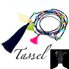 Tassel Necklace Colorfull #tassel #necklace #accesories
