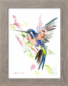 Hummingbird Flying Giclee Print by Suren Nersisyan at Art.com