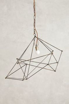 Anthropologie Small Iron Web Pendant Lamp #anthrofave #anthropologie