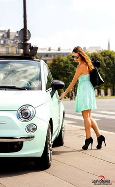 Driving the new Fiat 500c Mint in Paris during Paris Fashion Week .Life is Style…
