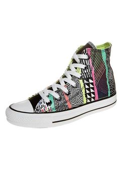 ALL STAR HI GRAPHICS - Korkeavartiset tennarit - white black green    Zalando.fi 🛒 e917dcc1c5