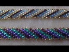Perfect Imperfections Bracelet 2 (superduo edition) Beading Tutorial by HoneyBeads1 - YouTube