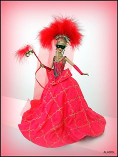 barbie doll, dress OOAK,