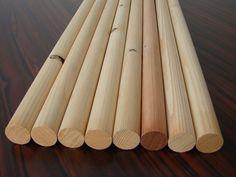8 Bastel-Rundstäbe Kiefer/Fichte 34x1000mm B-Ware Holzstäbe Rundstab Holz