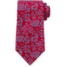 Charvet Paisley-Print Silk Tie (13.925 RUB) ❤ liked on Polyvore featuring men's fashion, men's accessories, men's neckwear and ties