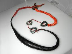 Vesna Kolobaric  by VESNAjewelryART - long #coral #necklace #wood #jewelry #VesnaKolobaric
