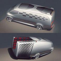Mercedes-Benz Vision Van Concept Sketches