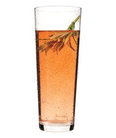 Rosemary-Rosé Spritzer (realsimple.com). Rosemary simple syrup and rosé sparkling wine.